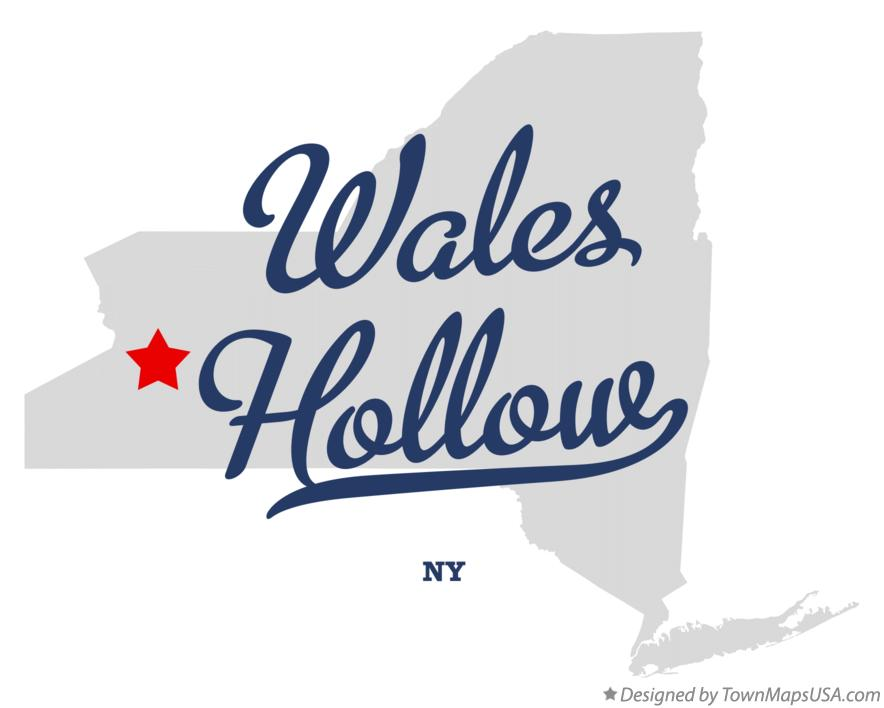 Map of Wales Hollow New York NY