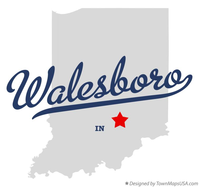 Map of Walesboro Indiana IN