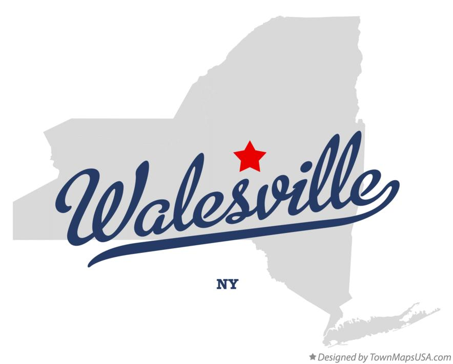 Map of Walesville New York NY