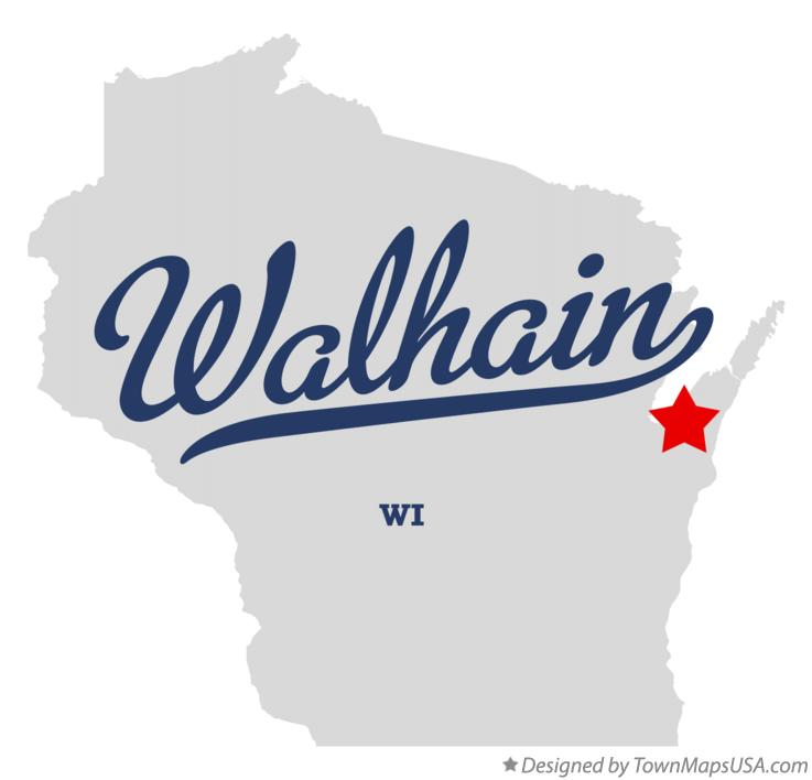 Map of Walhain Wisconsin WI