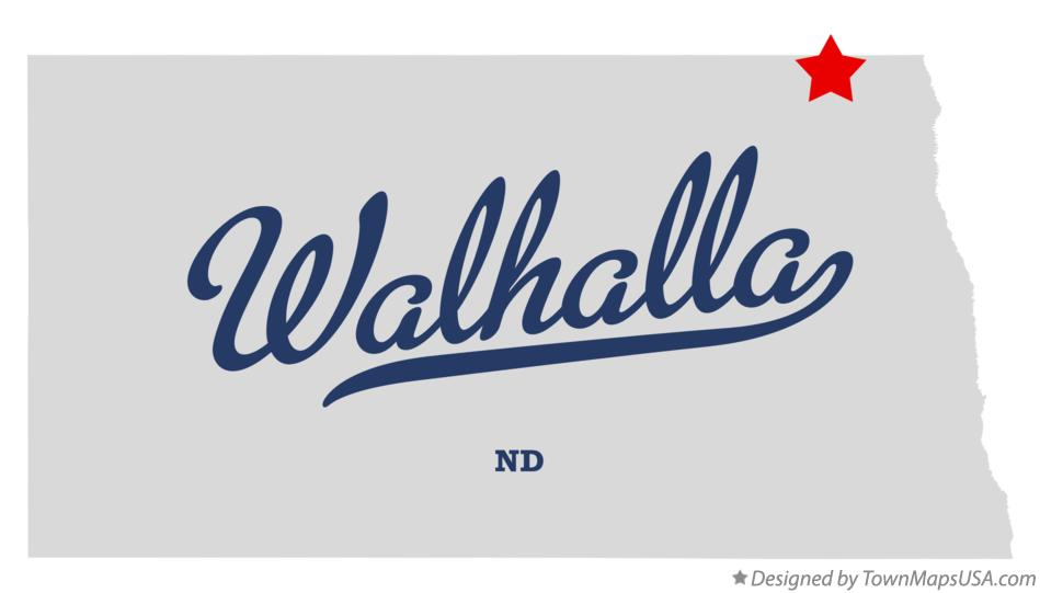 Map of Walhalla North Dakota ND