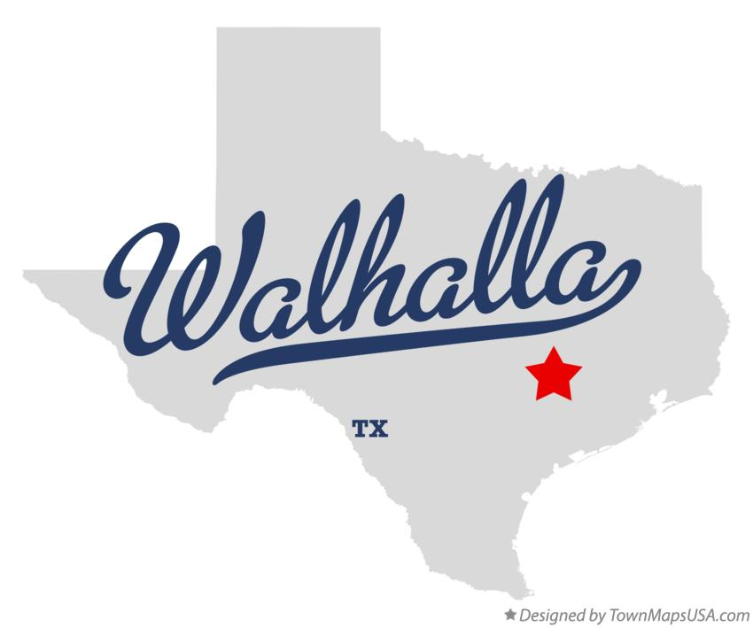 Map of Walhalla Texas TX