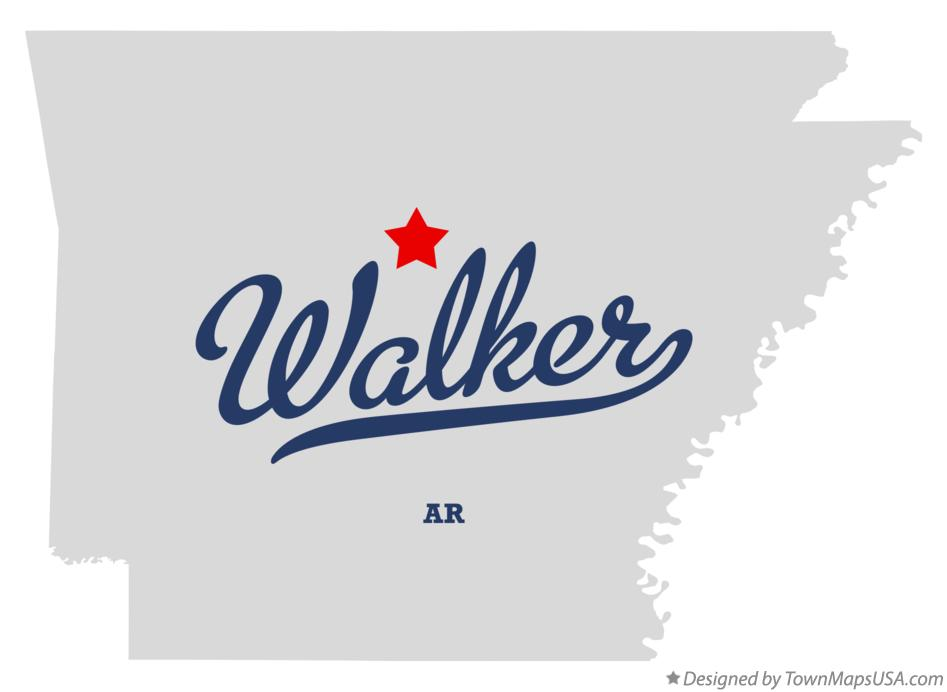 Map of Walker Arkansas AR