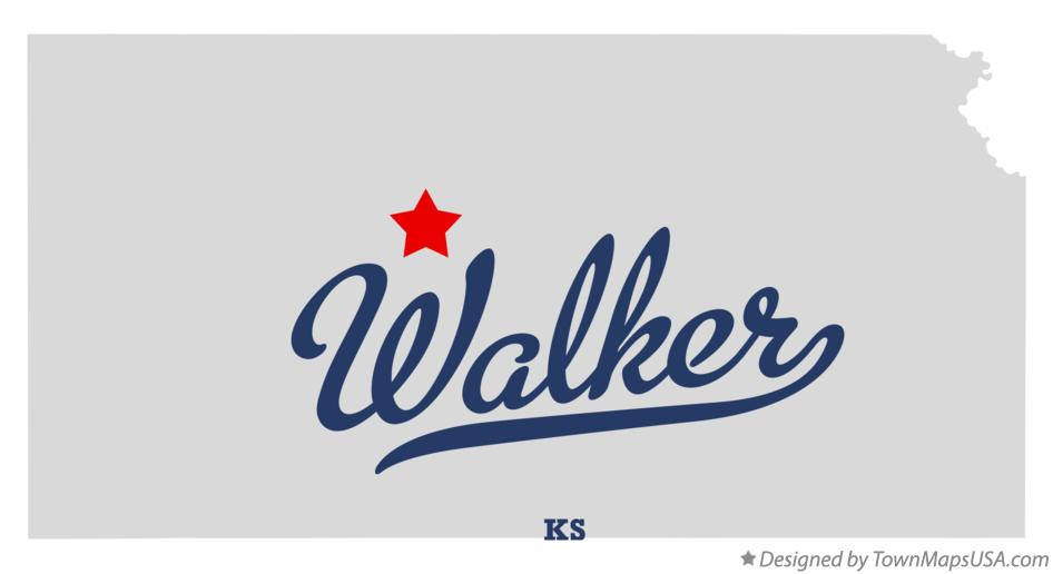 Map of Walker Kansas KS