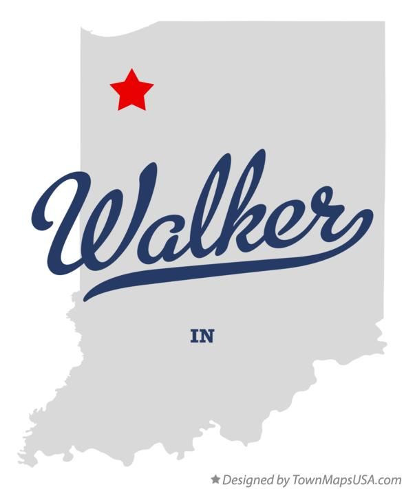 Map of Walker Indiana IN