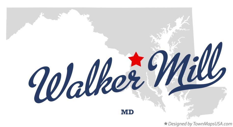 Map of Walker Mill Maryland MD