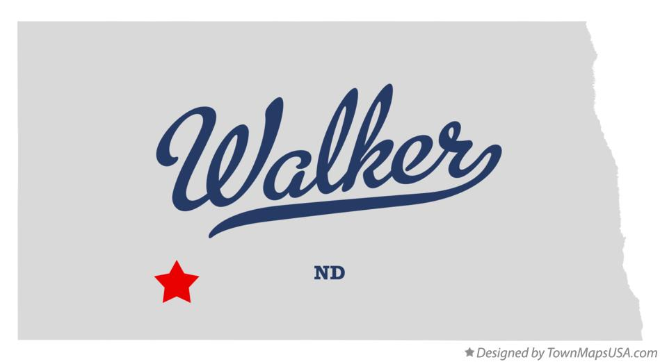 Map of Walker North Dakota ND