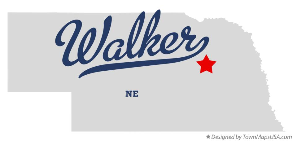 Map of Walker Nebraska NE