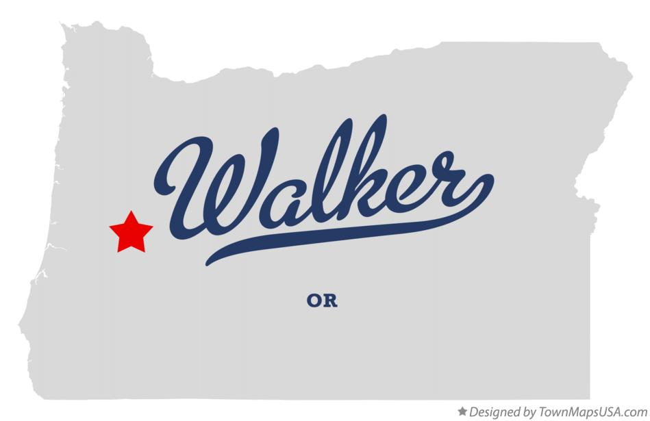 Map of Walker Oregon OR