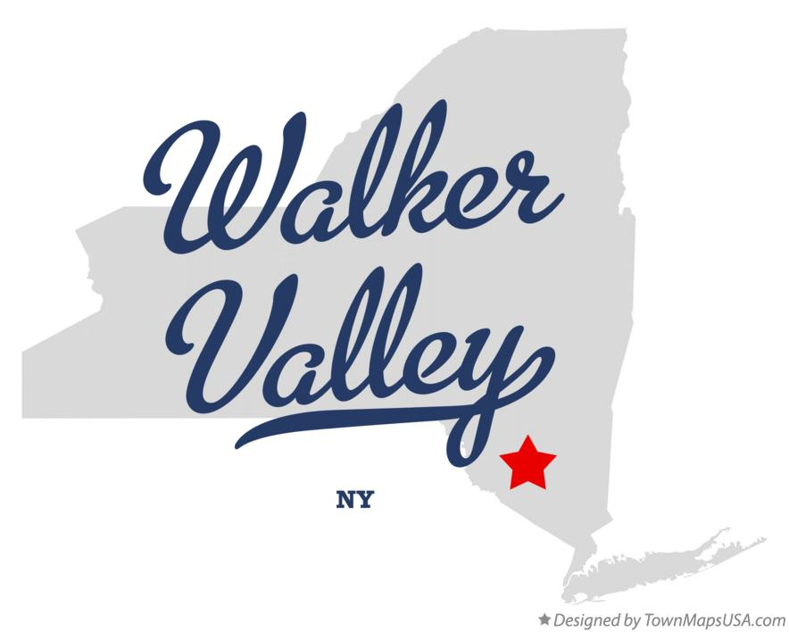 Map of Walker Valley New York NY