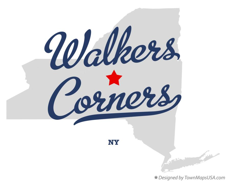 Map of Walkers Corners New York NY