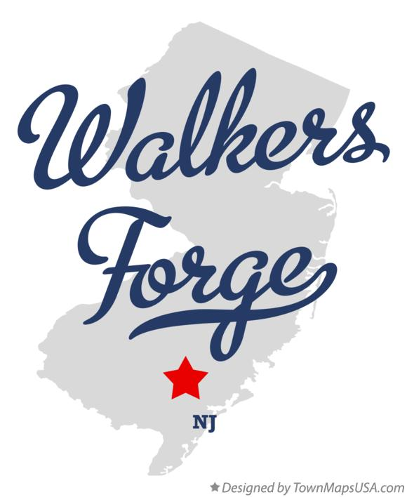 Map of Walkers Forge New Jersey NJ