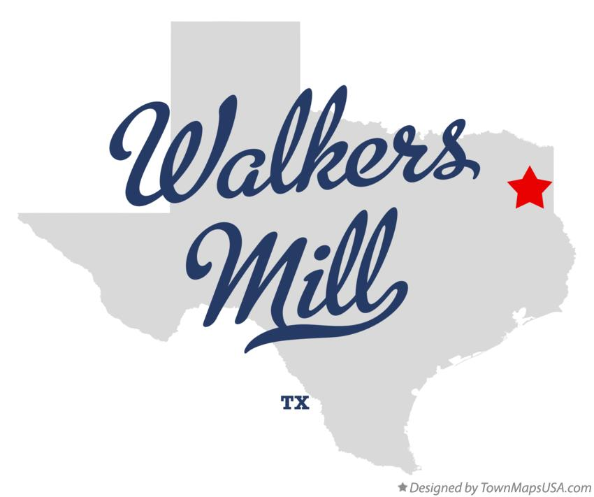 Map of Walkers Mill Texas TX