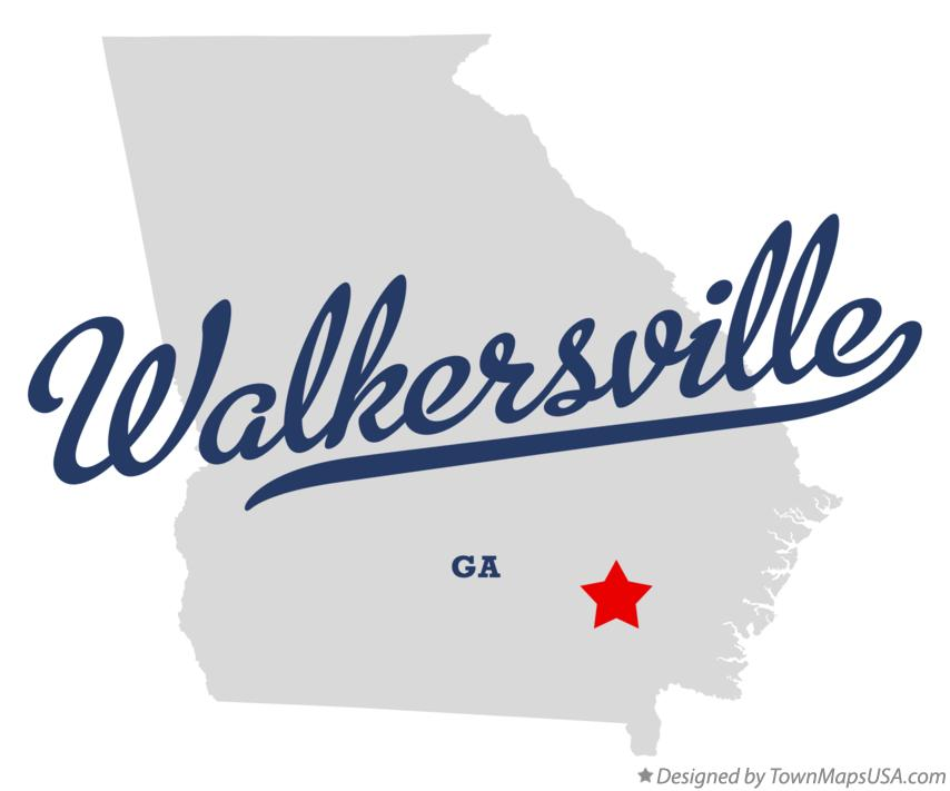 Map of Walkersville Georgia GA
