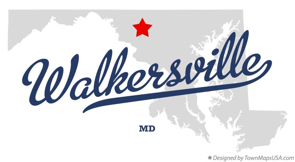 Map of Walkersville Maryland MD