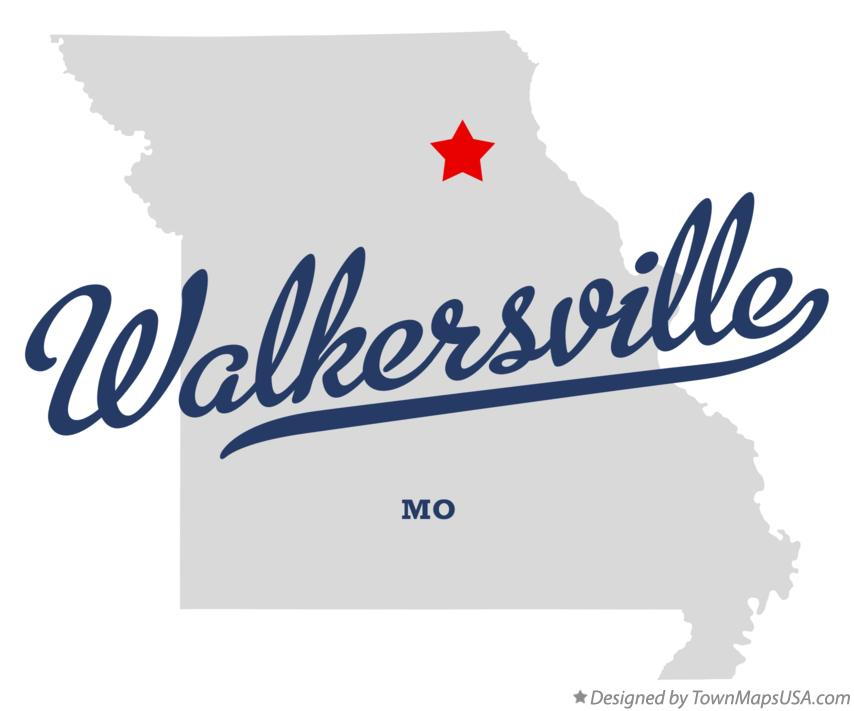 Map of Walkersville Missouri MO