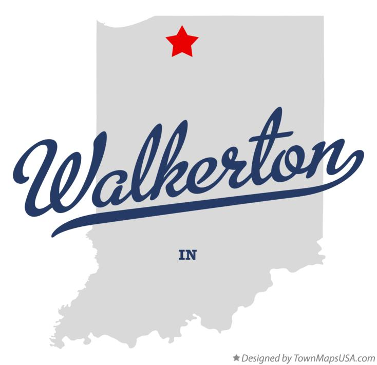 Map of Walkerton Indiana IN