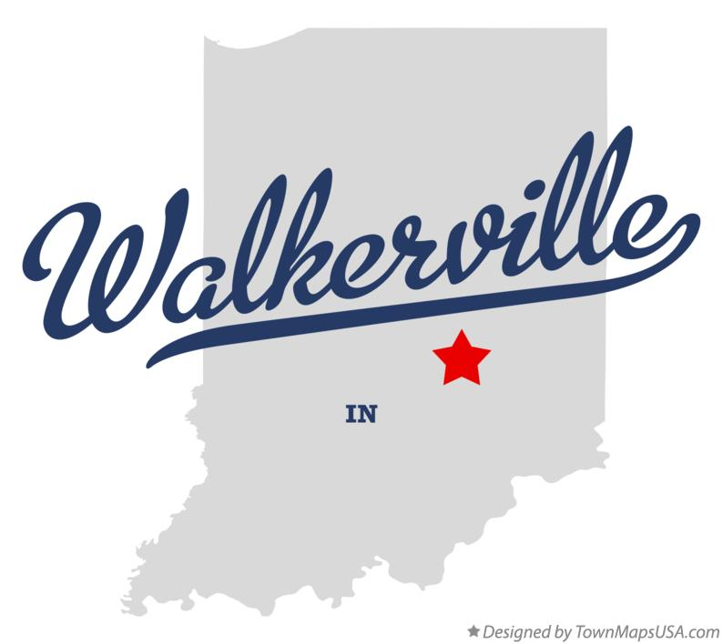Map of Walkerville Indiana IN