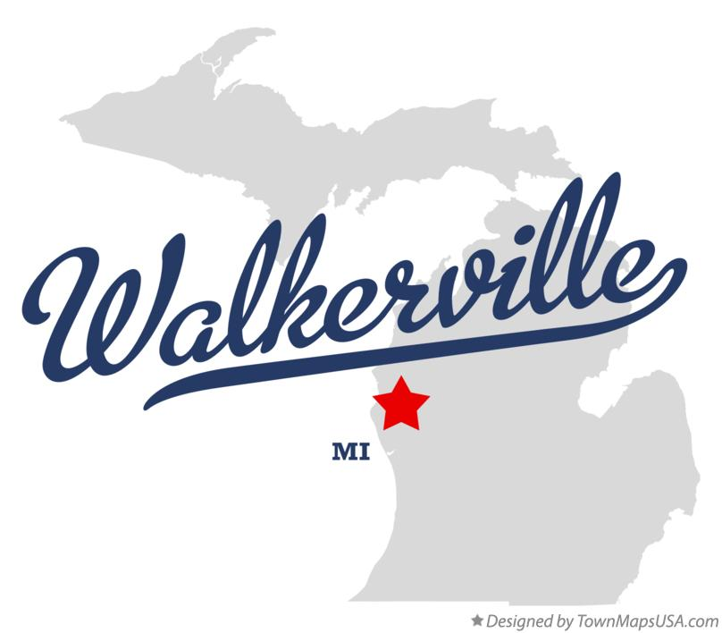Map of Walkerville Michigan MI