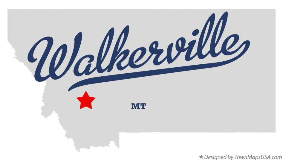Map of Walkerville Montana MT