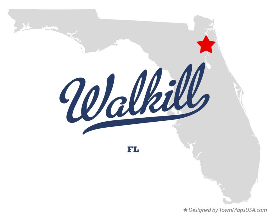 Map of Walkill Florida FL