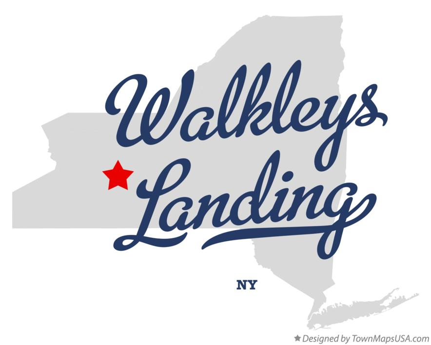 Map of Walkleys Landing New York NY