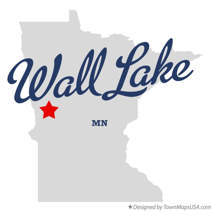 Map of Wall Lake Minnesota MN