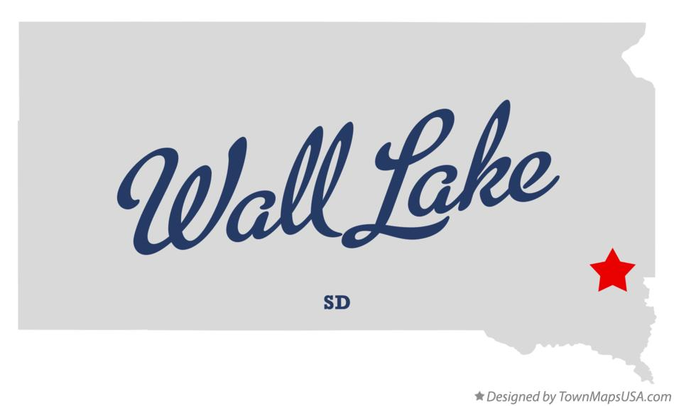 Map of Wall Lake South Dakota SD