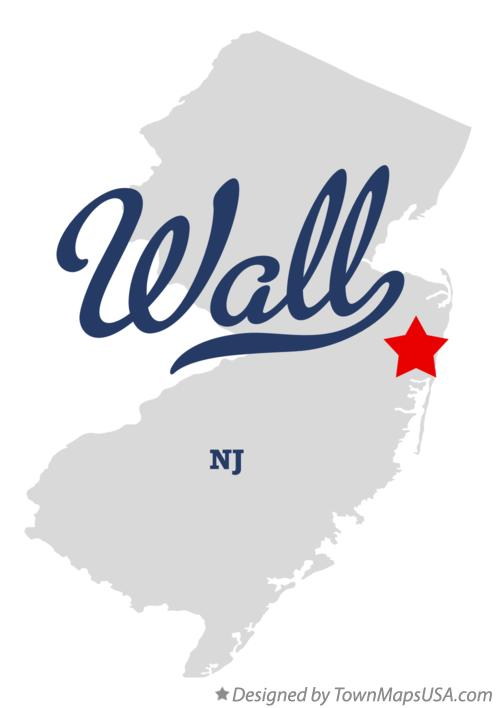 Map of Wall, NJ, New Jersey