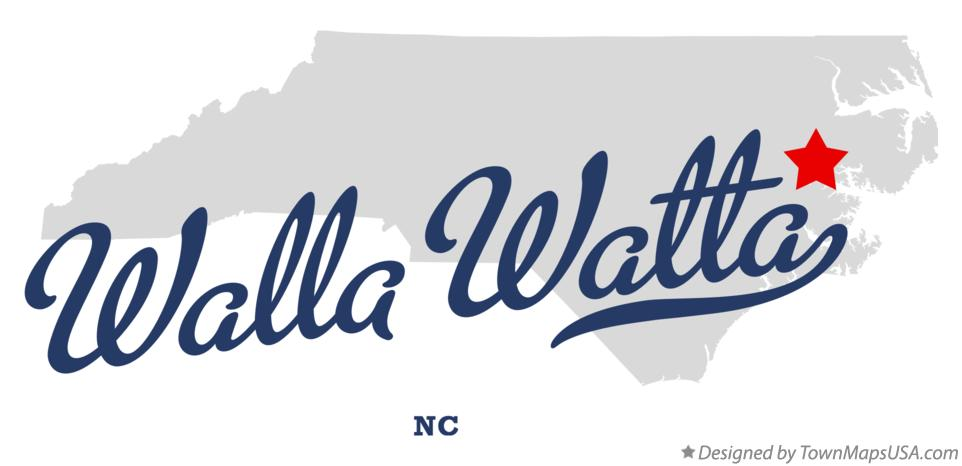 Map of Walla Watta North Carolina NC