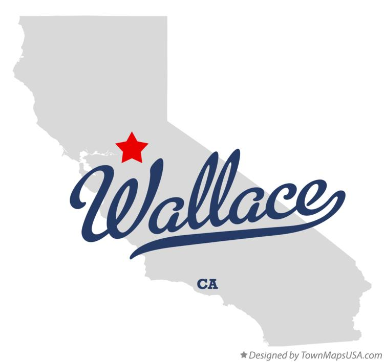Map of Wallace California CA