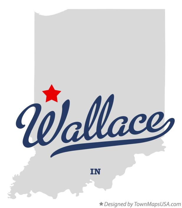 Map of Wallace Indiana IN