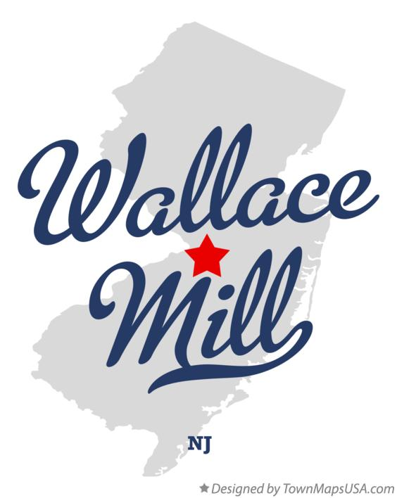 Map of Wallace Mill New Jersey NJ