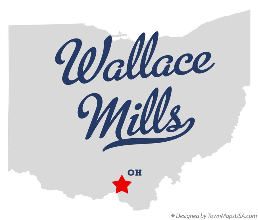 Map of Wallace Mills Ohio OH