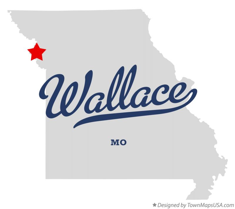Map of Wallace Missouri MO