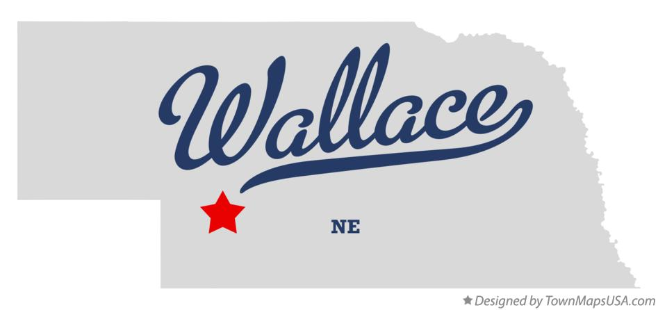 Map of Wallace Nebraska NE