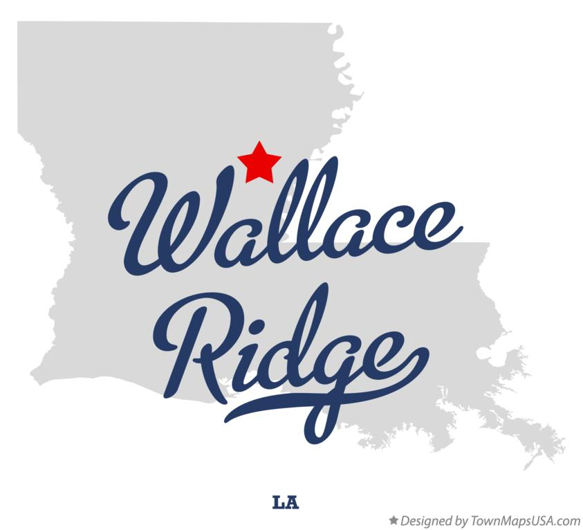 Map of Wallace Ridge Louisiana LA