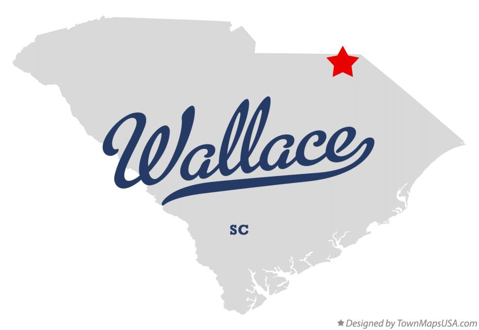 Map of Wallace South Carolina SC