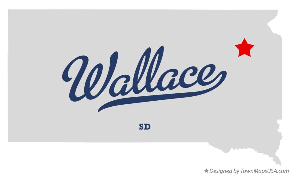 Map of Wallace South Dakota SD