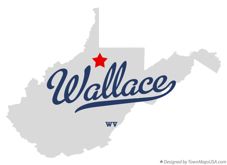 Map of Wallace West Virginia WV