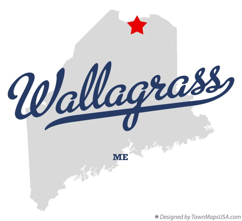 Map of Wallagrass Maine ME