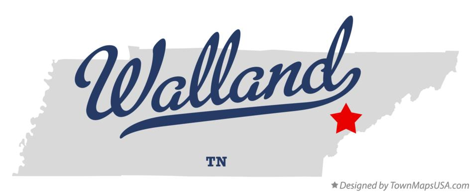 Map of Walland Tennessee TN