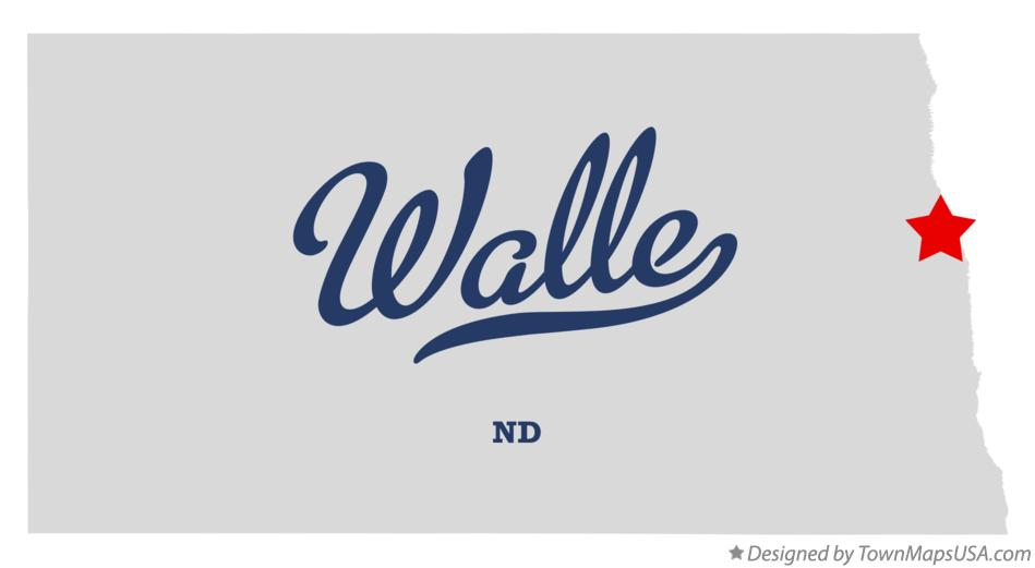 Map of Walle North Dakota ND