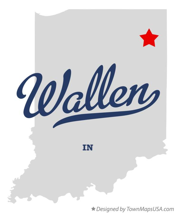 Map of Wallen Indiana IN