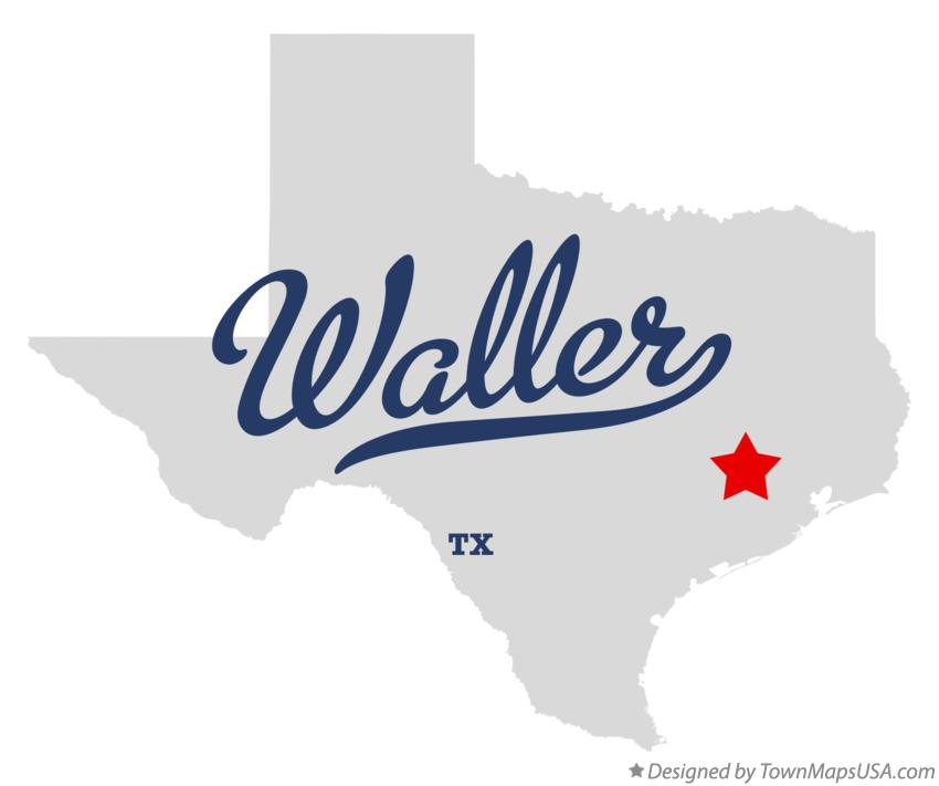 Map of Waller Texas TX