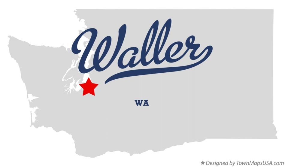 Map of Waller Washington WA