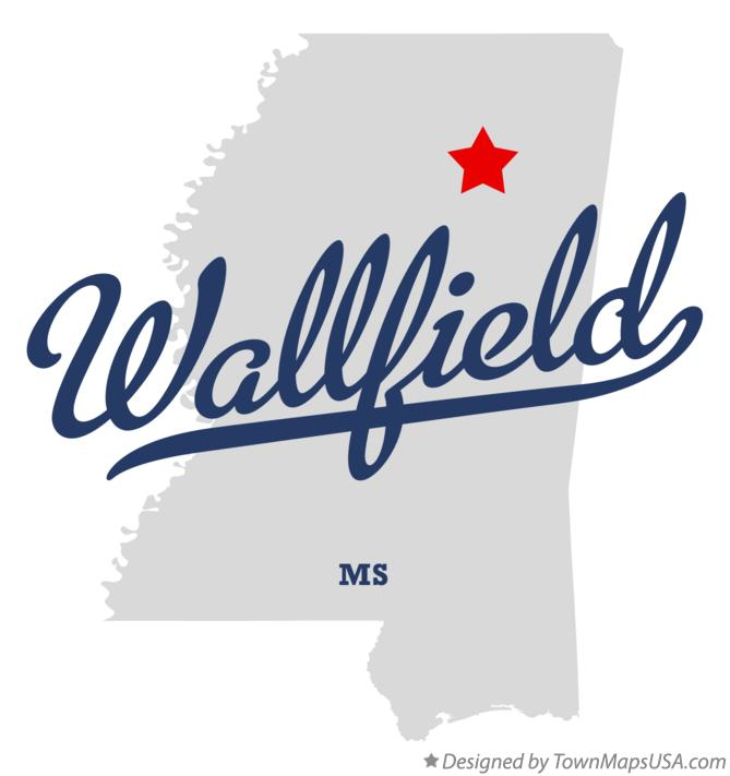 Map of Wallfield Mississippi MS