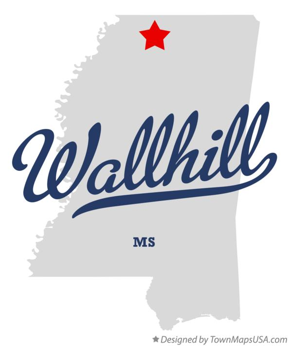 Map of Wallhill Mississippi MS