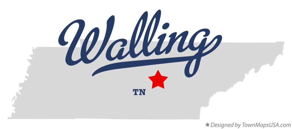 Map of Walling Tennessee TN
