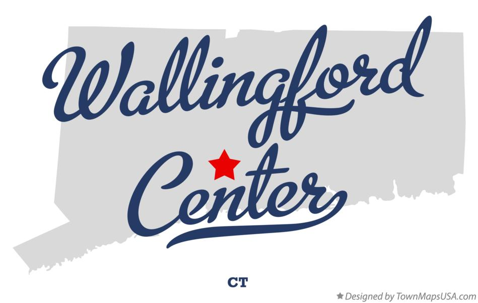 Map of Wallingford Center Connecticut CT